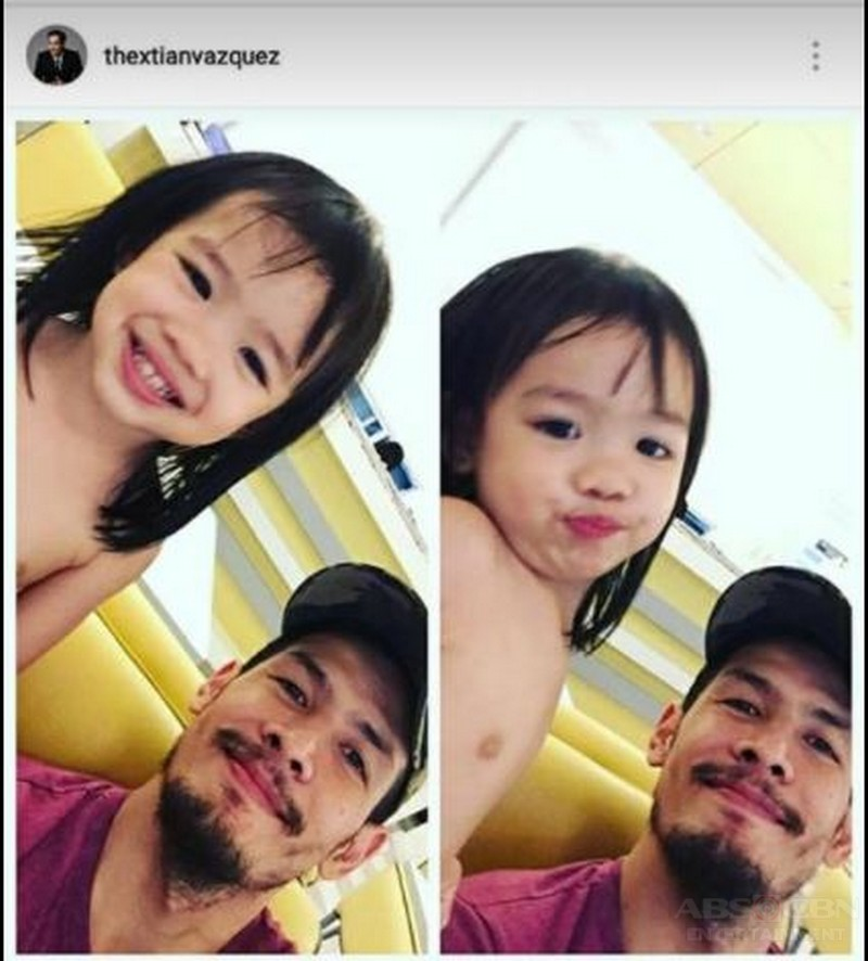 IN PHOTOS: Christian Vasquez with his little 'Inday'