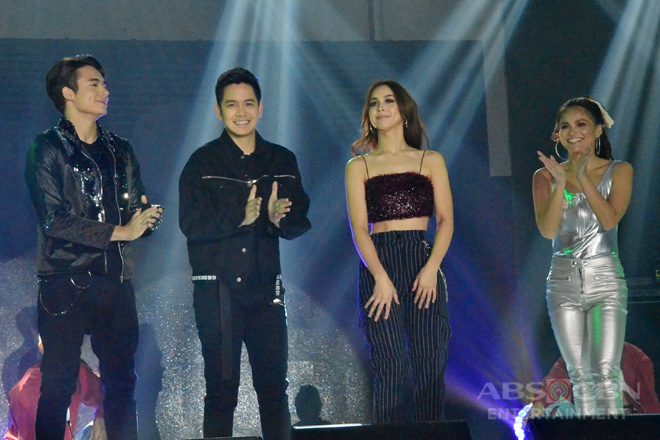 PHOTOS: Ngayon At Kailanman's Joshua, Julia, Jameson and Elisse at the Family Is Love: The ABS-CBN Christmas Trade Event